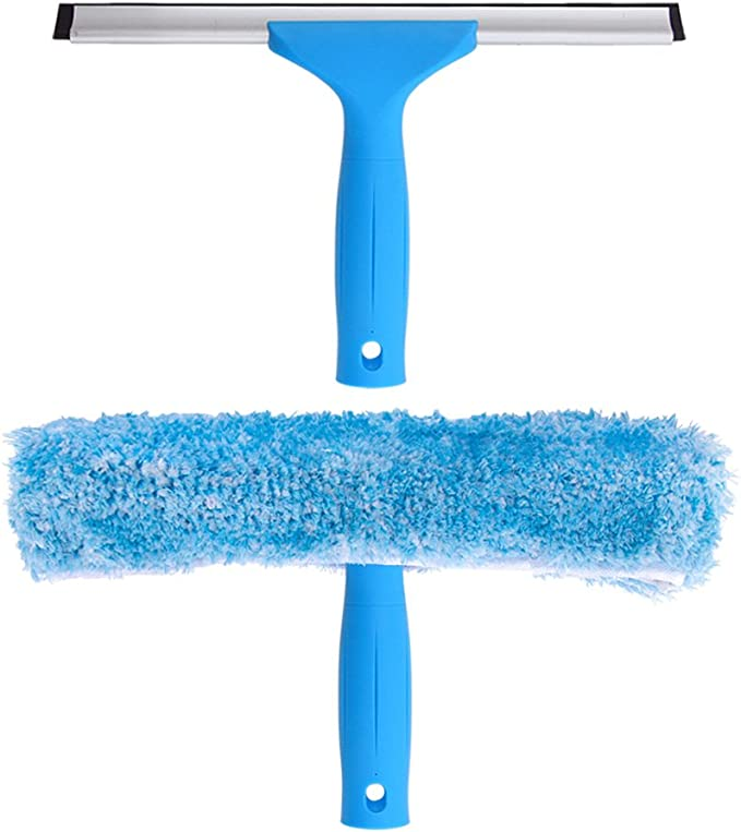 """Amazon.com: MR.SIGA Professional Window Cleaning Combo - Squeegee & Microfiber Window Scrubber, 10"""": Home & Kitchen"""
