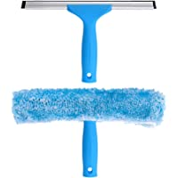 MR.SIGA 25 cm Ventana Limpieza Combo - Rasqueta limpiacristales y Microfibra Ventana Arandela