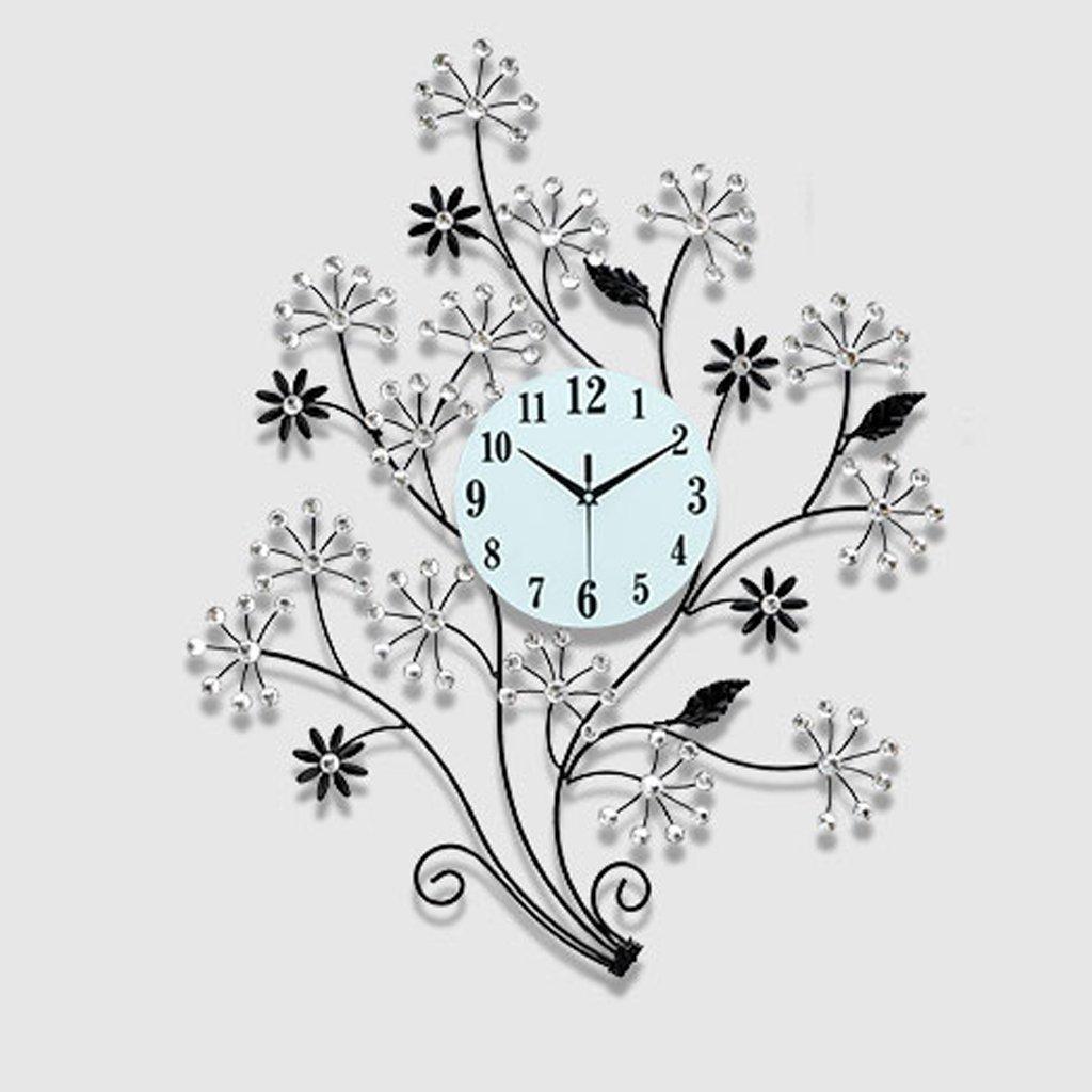 ウォールクロック 現代のミニマリスト時計の人格クリエイティブコンチネンタルウォールクロックリビングルームのベッドルームの装飾ミュート時計の壁時計クォーツ時計 (色 : White drill) B07D7S2XY3White drill