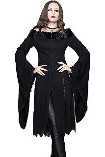 9d3093c30262b9 Devil Fashion Gothic Damen Schwarz Unregelmäßig Mode Lang Pelz Trägerlos  Sexy Tuniken Steampunk Frauen Weite Ärmel