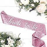 Pink Sequin Bachelorette Sash - Pink Bridal Sash - Pink Sequin