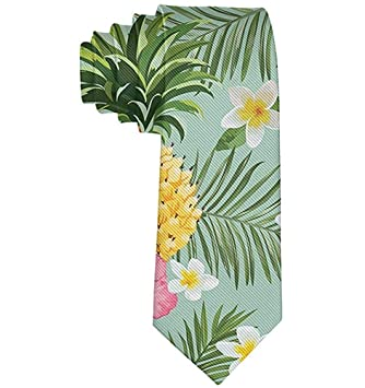 Corbata floral de flores de piña hawaiana para hombre Corbatas de ...