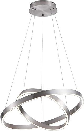 MADEM LED Modern Chandelier 2-Ring Circular Dimmable Pendant Light Flush Mount Pendant Lighting