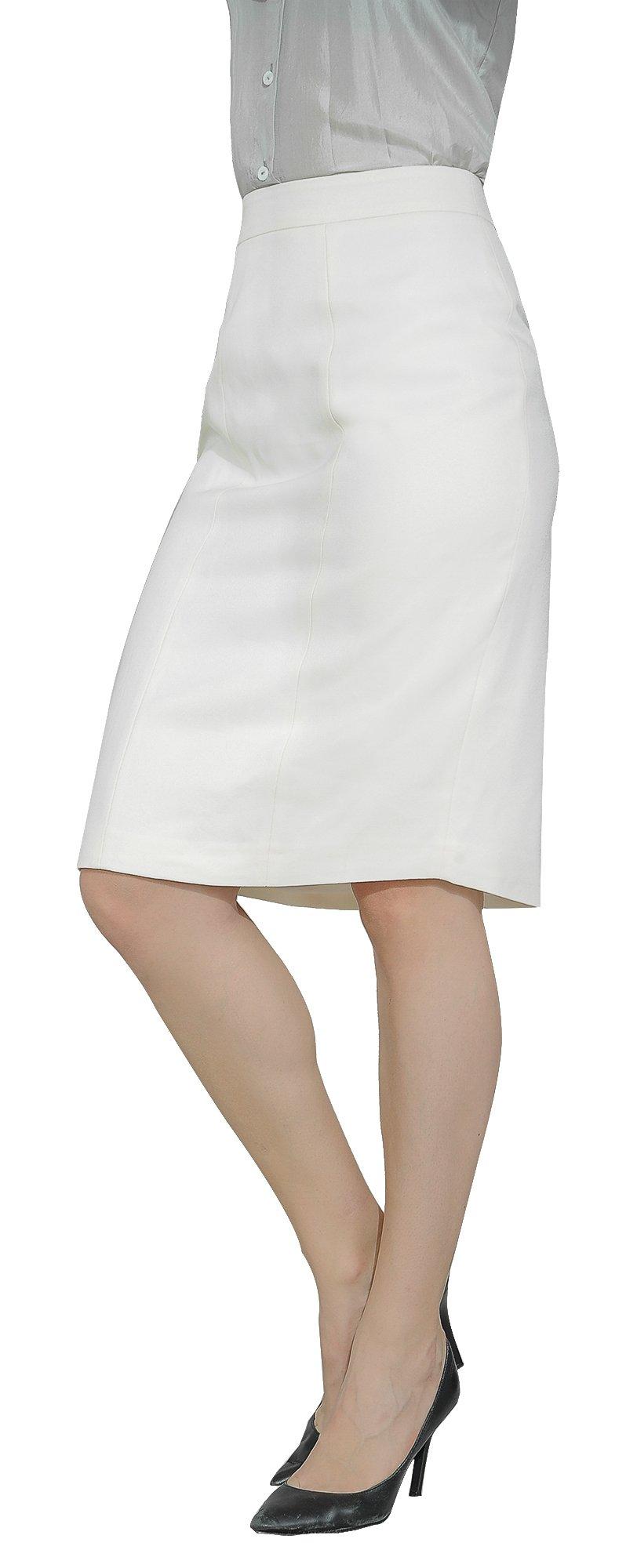 Marycrafts Women's Lined Pencil Skirt 4 Work Business Office 10 Beige