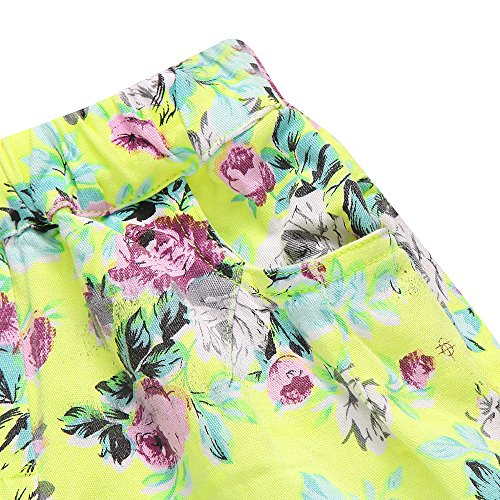 Richie House Little girl's Shorts with All over Floral Print RH1002-C-5/6 by Richie House (Image #4)