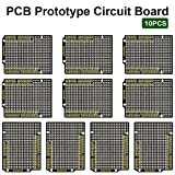 KEYESTUDIO 10 PCS PCB Board Prototype Kit for Arduino Uno R3 Board, Double Sided PCB Prototype Board for Arduino Projects
