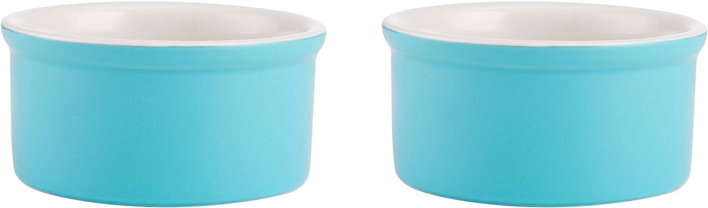 Farberware Baker's Advantage Set of 2 Ceramic Multi-Purpose Ramekin, 7-Ounce, Teal