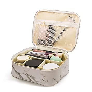 c6c4a35f058b Amazon.com : Travel Makeup Train Case with Removable Dividers ...
