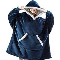IvyH Oversized Hoodie Sweatshirt Deken, Draagbare Sherpa Deken Hooded Sweatshirt Lange Mouw Super Zachte Warme Hoody One…