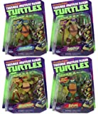 "2012 Teenage Mutant Ninja Turtles 4"" Figure Collection - (Michelangelo, Leonardo, Donatello, Raphael)"