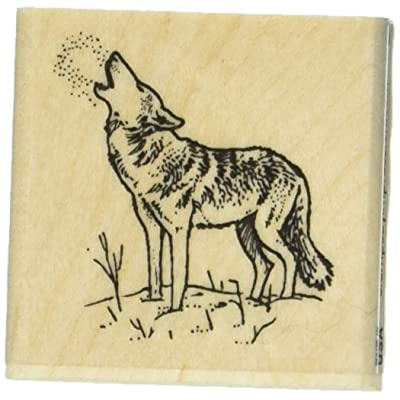 Stamps by Impression ST 0668a Wolf Rubber Stamp: Arts, Crafts & Sewing