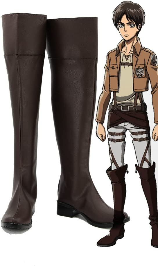 Telacos Attack on Titan Shingeki No Kyojin Anime Cosplay Shoes Boots Custom Made
