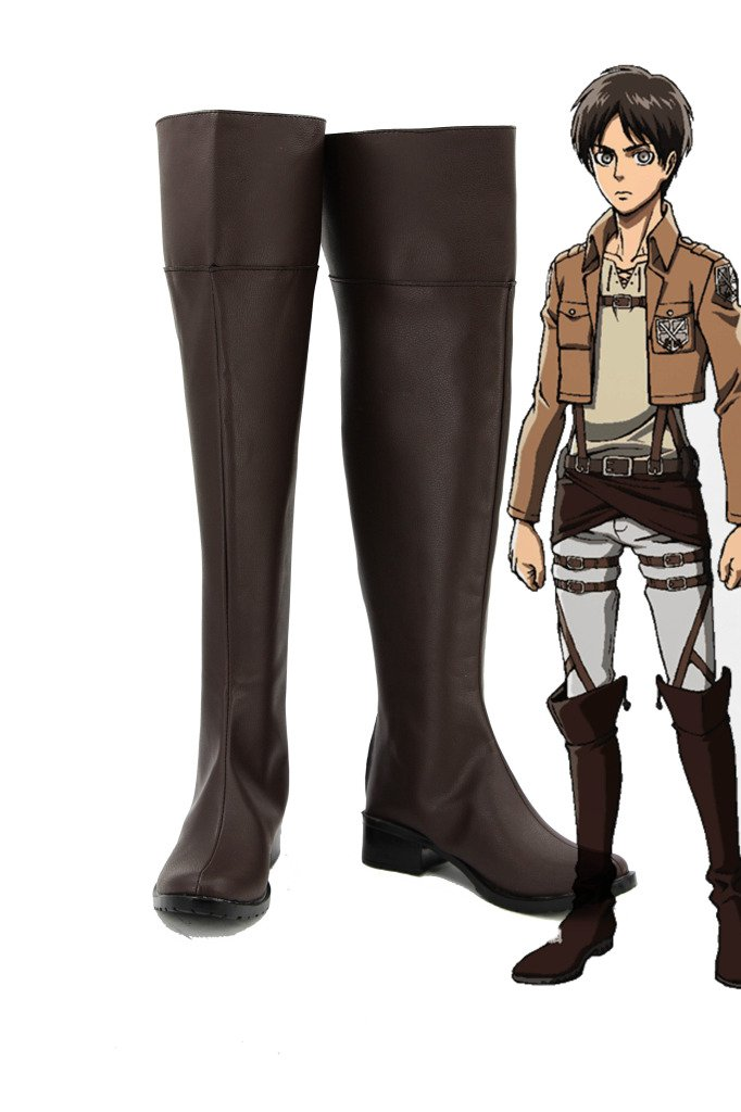 Attack on Titan Shingeki No Kyojin Anime Cosplay Shoes Boots Custom Made 7.5 B(M) US Female