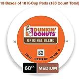 Dunkin' Donuts Original Blend Medium Roast Coffee, 60 K Cups for Keurig Makers, 3 Pack