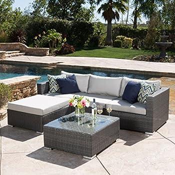 Francisco Patio Furniture ~ Outdoor Wicker Conversation (Chat) Set Set (5  Piece,
