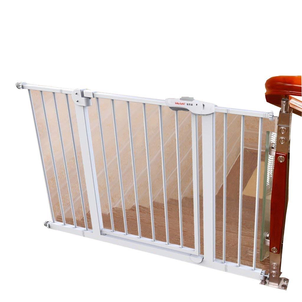 階段の出入り口用エクストラワイドベビーゲート、圧力マウントメタル白いペットゲート、猫/犬のドア、75-194cm (サイズ さいず : 165-174cm) 165-174cm  B07K1YKKXZ