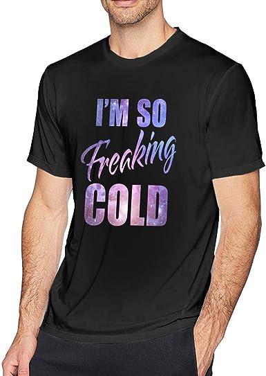 Estoy Freaking Frío Púrpura Galaxy Hombres Camiseta Cuello Redondo Humor Gráfico Camisa de algodón de Manga Corta para Adultos jóvenes: Amazon.es: Ropa y accesorios
