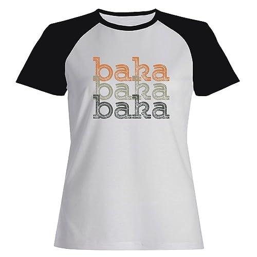 Idakoos Baka repeat retro - Nomi Femminili - Maglietta Raglan Donna