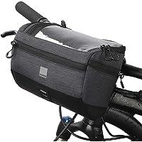 Lixada Fiets stuurtas multifunctionele 5L capaciteit fietstassen stuurhouder fietstas rijrugzak (zwart type 2)