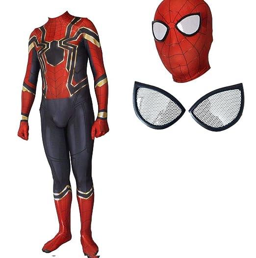 ERTSDFXA Disfraz Spiderman Niño Parche En El Ojo Carnaval Disfraz ...