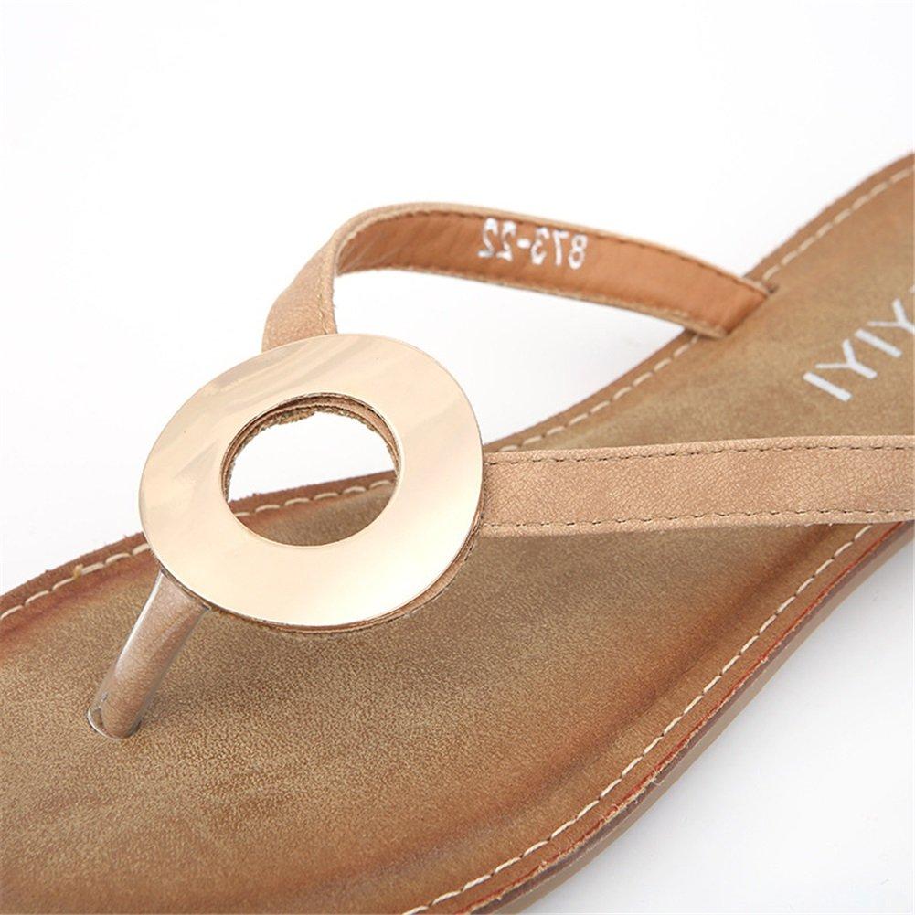 Damenschuhe New Spring Summer Comfort Comfort Comfort Ankle Strap Sandalen Einfache Römische Mode Sandalen Runde Ring Anti-Rutsch-Sandalen 2ca33c