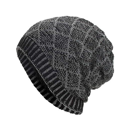 cf3d1412d25 TWGONE Knit Cap for Women Men Warm Baggy Weave Crochet Winter Wool Ski  Beanie Skull Hat