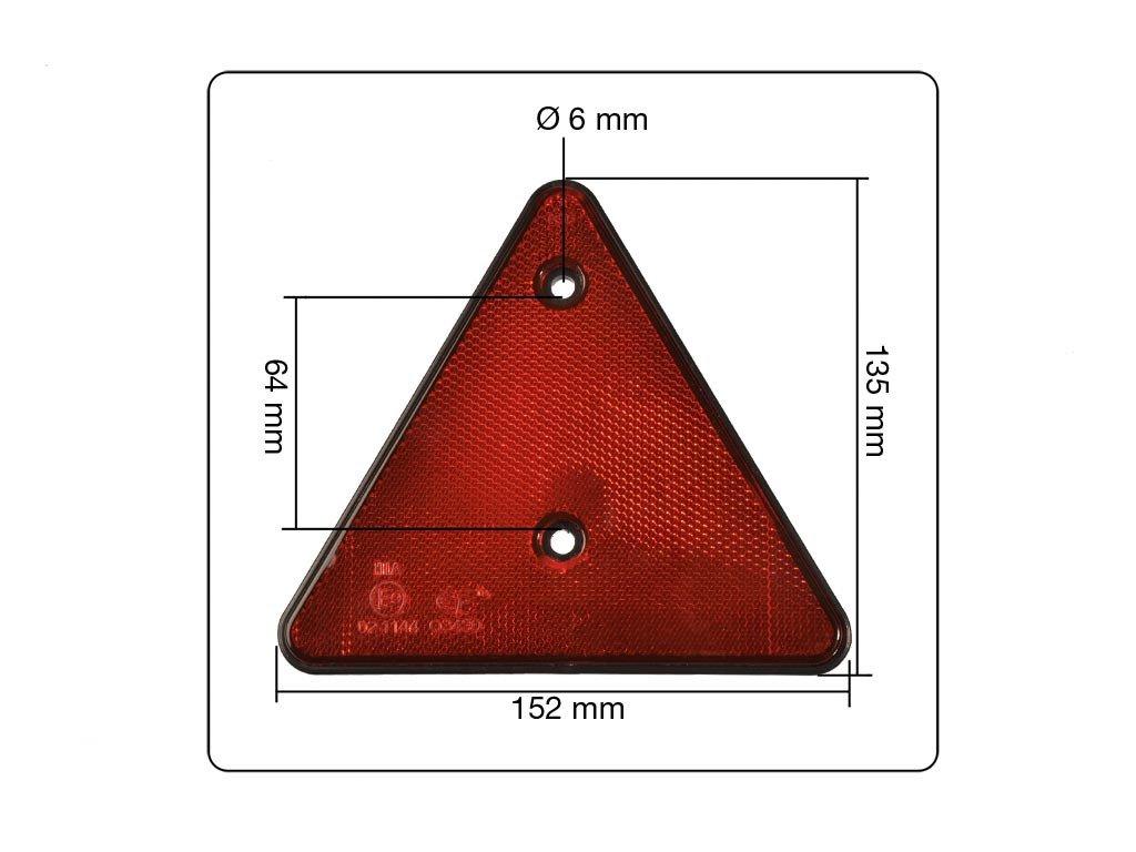 10 tlg Set Reflektoren rund und dreieckig mit Befestigungsloch orange wei/ß rot