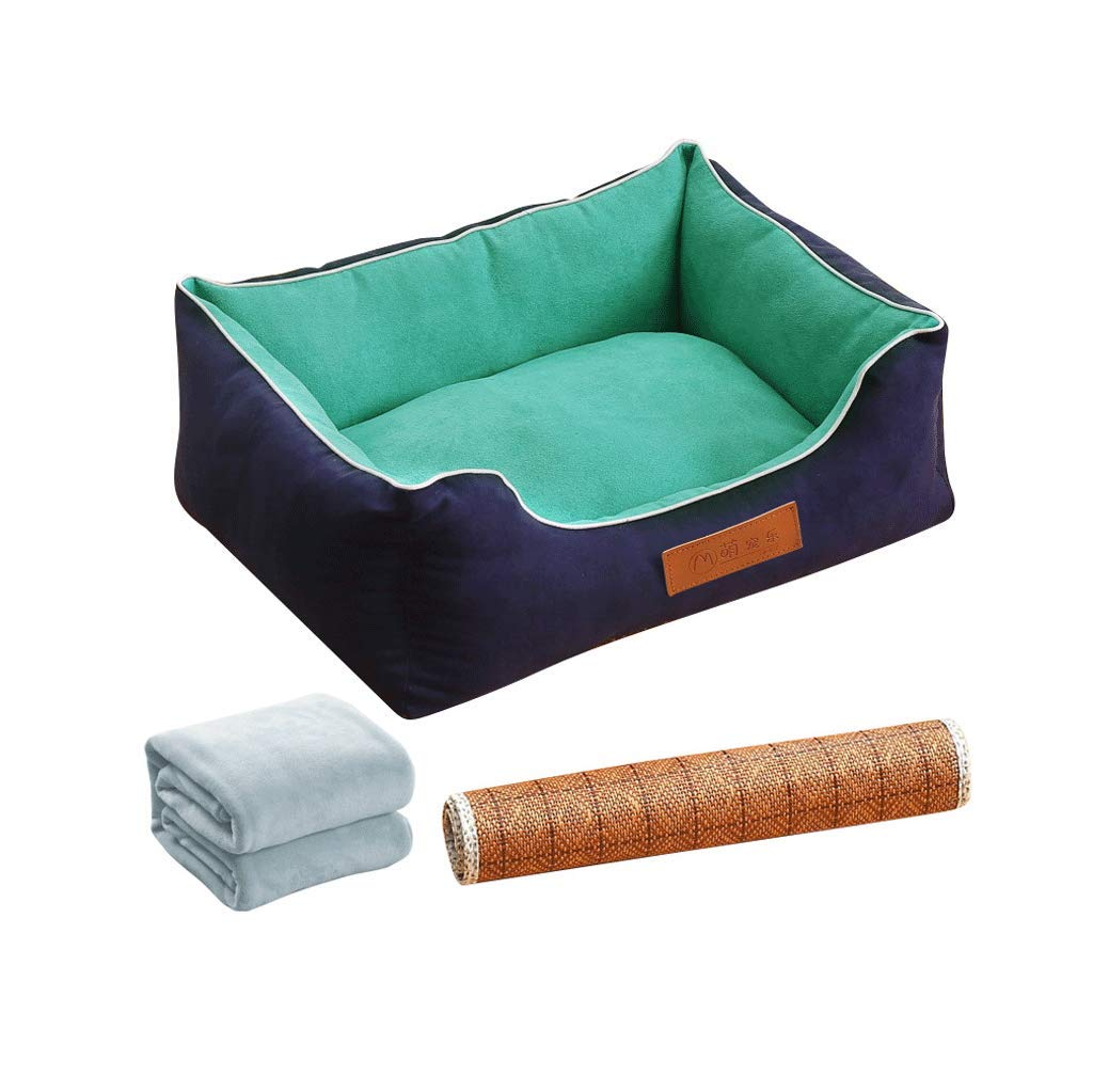 D 96X75CM Deep Sleep Kennel Cat Litter Round Plush Nest Small and Medium Dogs Winter (color   F, Size   75X60CM)
