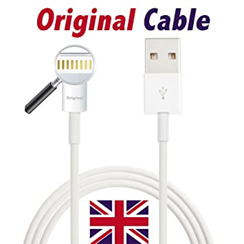 Apple MD818ZM/A - Cable USB para Cargador y sincronización (Apto para iPhone 5/5S 6 Plus iPad y iPod, Articulo Original)
