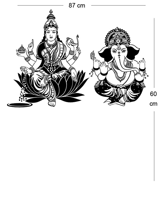 Buy Trends on Wall Shree Laxmi Ganesh Ji Diwali Special Wall Decal