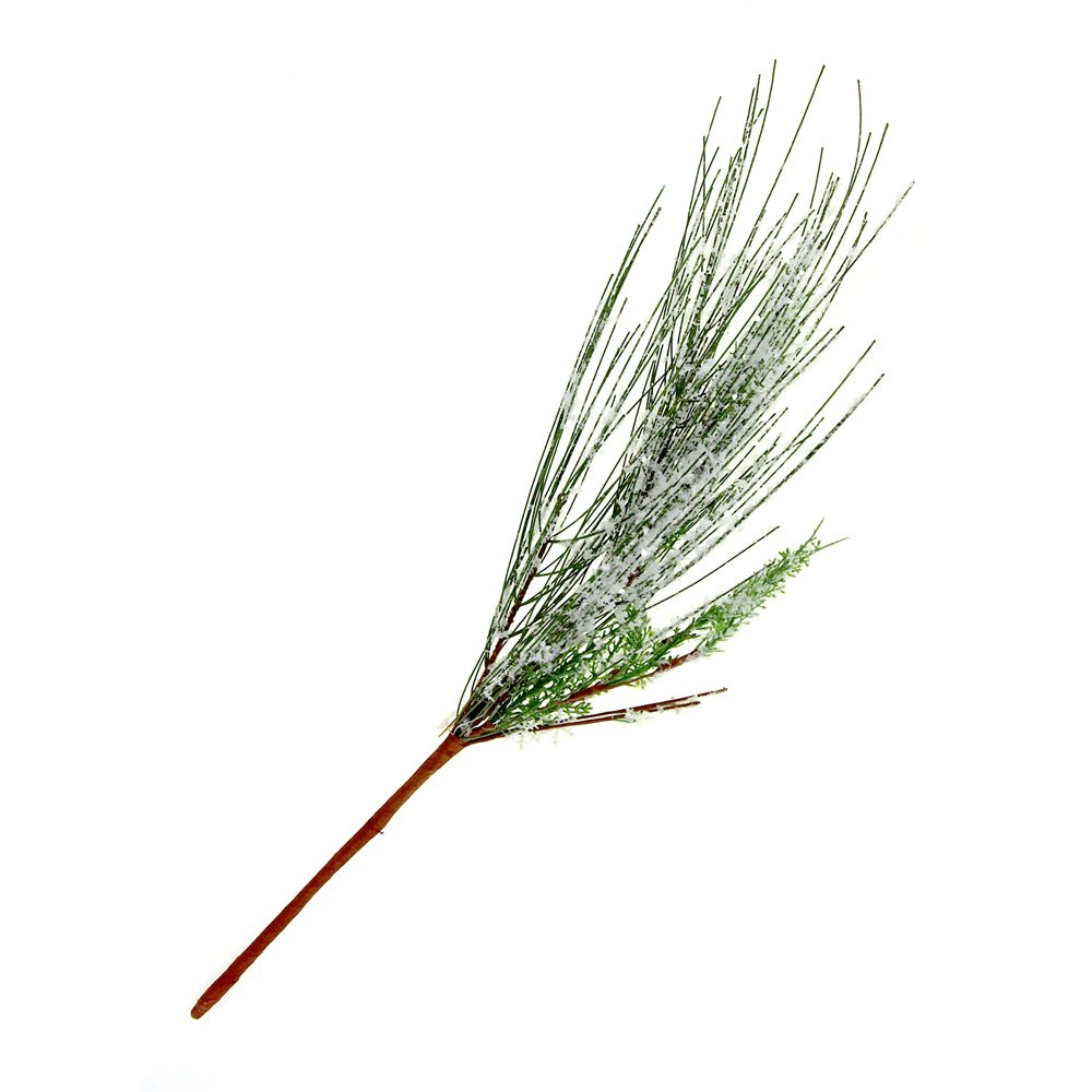 Homeford Frosted Snowflake Pine Needle Pick Christmas Holiday Decoration, 18-Inch