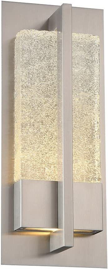 Modern Forms WS-W35516-SS Contemporary Modern LED Outdoor Wall Mount from Omni Collection in Pwt, Nckl, B S, Slvr. Finish, Stainless Steel