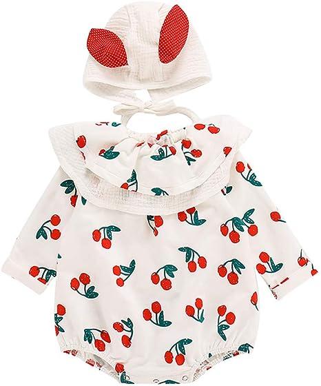 2pcs Newborn Infant Baby Girl Outfits Clothes Romper Bodysuit Jumpsuit Set