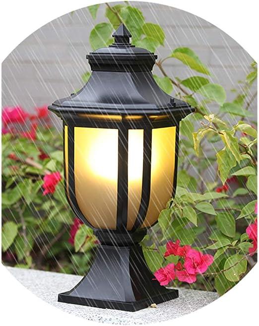 ASDFGHT Luces Jardín Luces Paisaje Arena Negro Iluminación Luz de Poste Impermeable E27 Lámpara de Pie Luz de Césped A Prueba de Herrumbre Luz Decorativa (Size : 53cm): Amazon.es: Hogar