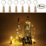 Anpro 20 LED Wine Bottle Lights AAA Battery Operated-Warm White Cork Lights String lamp for Christmas Party, DIY Decor Party and Birthday