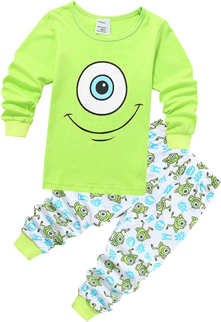 DUHUD Toddler Kids Girls Boys Pajamas 2 Piece Sets Pj Funny Short Sleeve Tee and Shorts