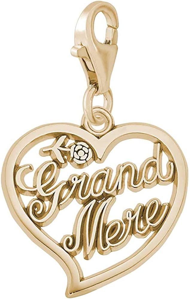 10K Yellow Gold Rembrandt Charms Credit Card Charm with Lobster Clasp