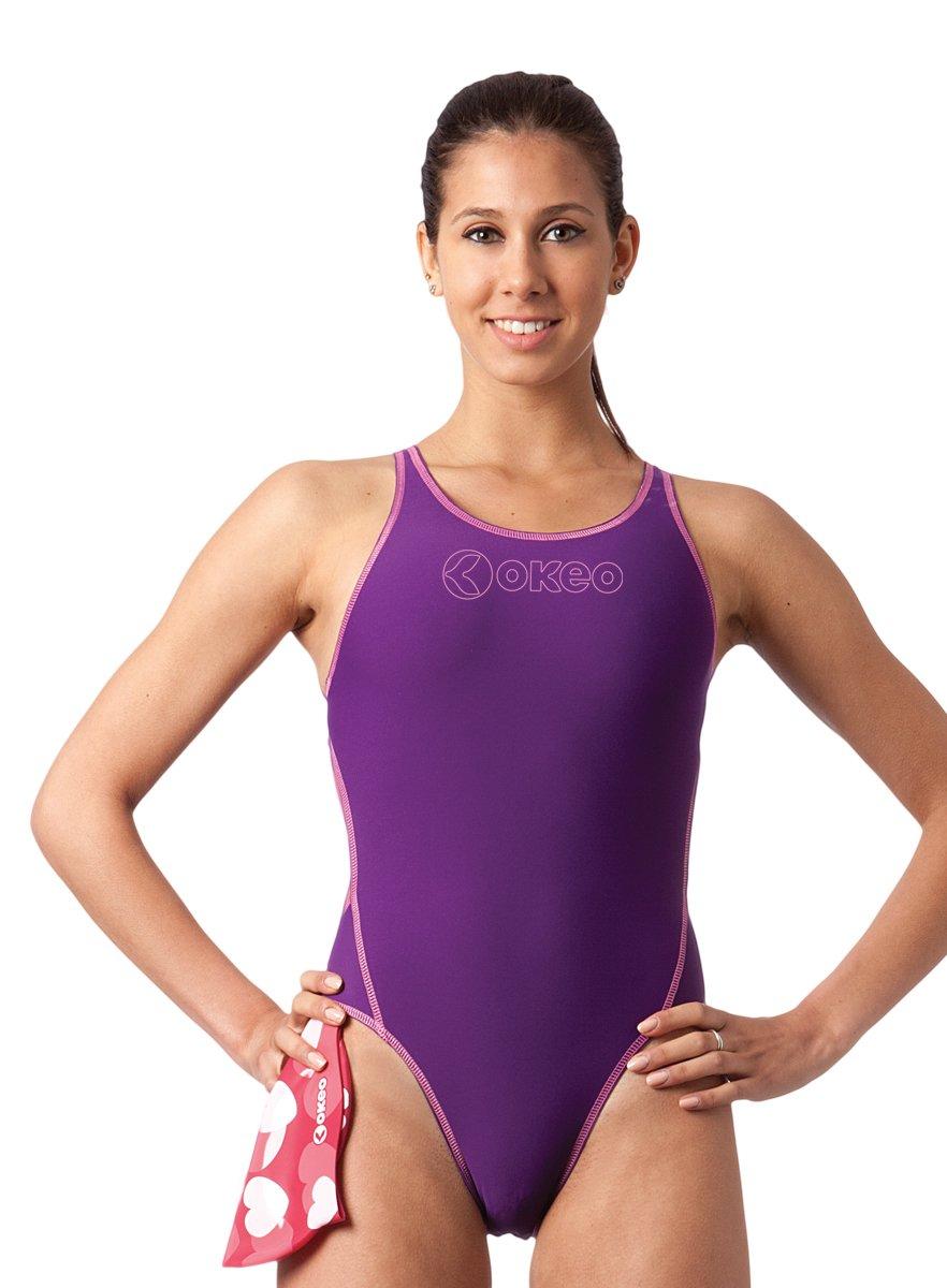 Okeo -GIULIA- Costume intero donna per piscina; SLIM FIT