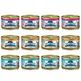 Blue Wilderness Wild Delights Grain Free Meaty Morsels Cat Food – 3 Flavors – Chicken & Trout, Chicken & Salmon, and Chicken & Turkey (12 Pack)