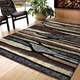 Era Collection Blue Meadow Multi Area Rug (7 10  x 10 10 )