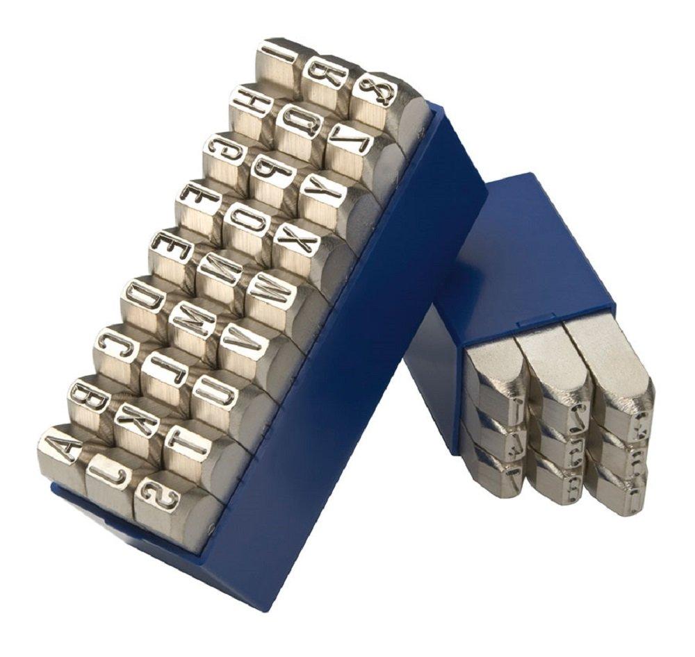 Gravurem 11704000 Schlagzahlen und -buchstaben 0-9 und A-Z,/& Kombination VERNICKELTE OBERFL/ÄCHE in Schrifth/öhe 4mm