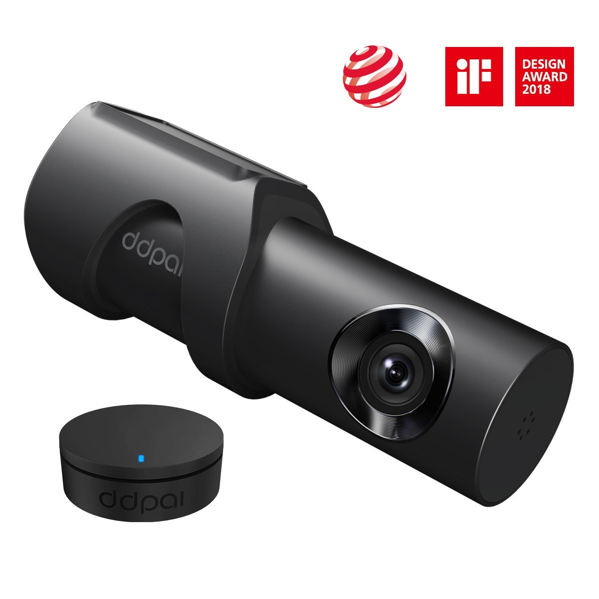 1600P Dash Cam, DDPai Mini3 Built-in Wifi and 32G eMMC Storage Card Car Camera, F1.8 Aperture 140 Wide Angle with WDR HD Night Vision, Loop Recording, G-Sensor