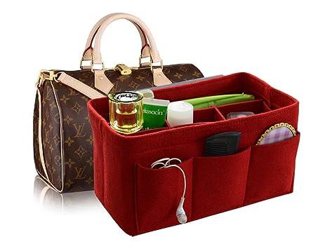 Felt Handbag Organizer Insert Purse Organizer 12 Pockets Structure