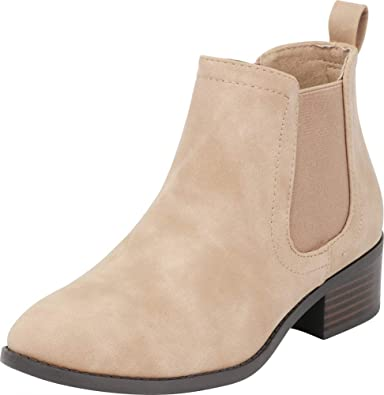 50f90fc84437 Cambridge Select Women s Closed Toe Chelsea Stretch Chunky Block Heel Ankle  Bootie