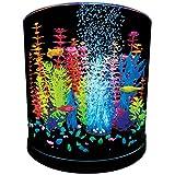 GloFish Half Moon Aquarium with Blue LED Bubbler, 3-Gallon
