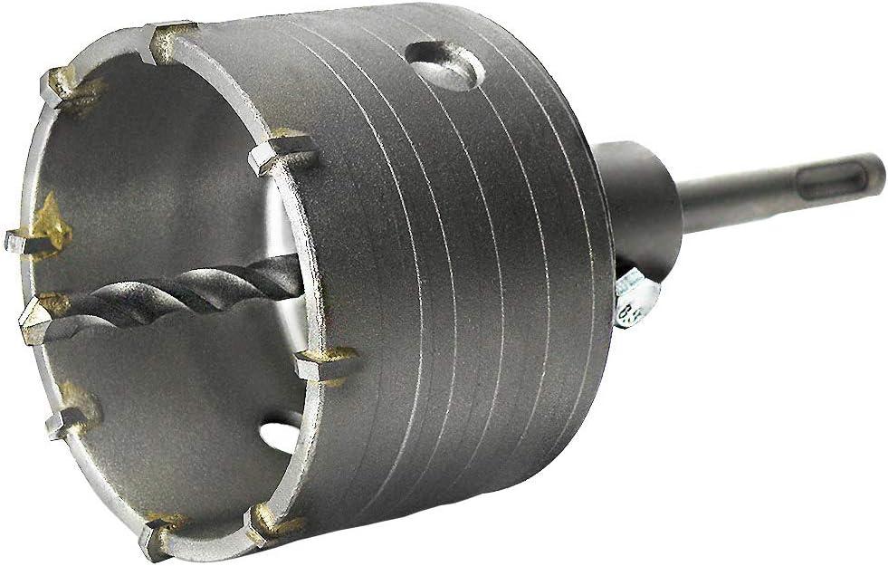 S&R Sierra Corona Perforadora Hormigón en seco Ø 82mm + Adaptador SDS Plus110 mm + Broca