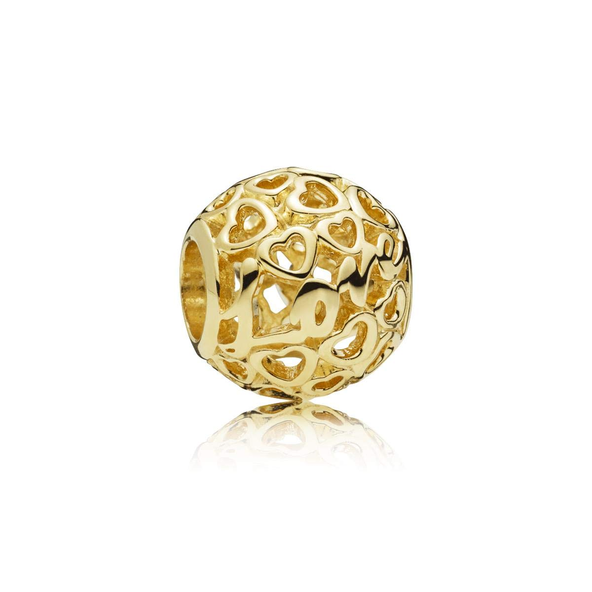 Pandora 14kt Gold Glowing With Love Charm 757539