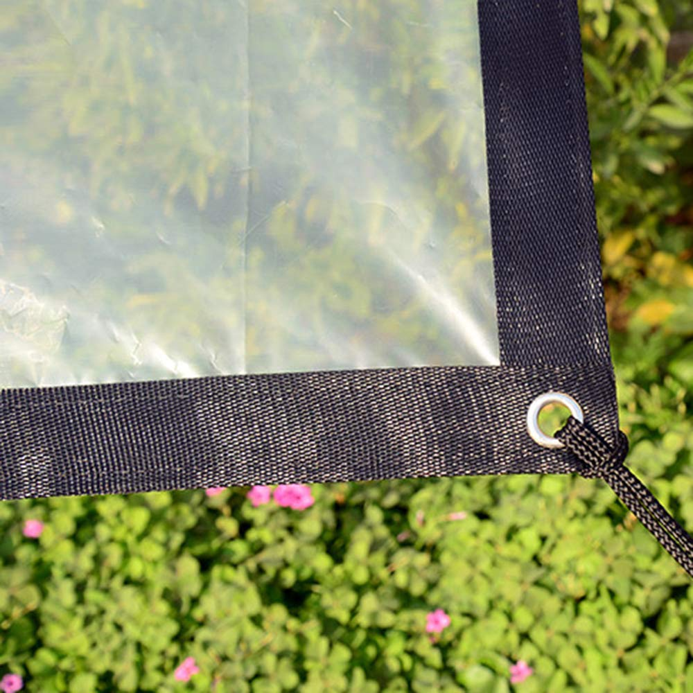 3.2x3.2ft OLANZH Clear Waterproof Cover Tarp,Heavy Duty Dustproof Rainproof Tarpaulin Sheet Ground Sheet Covers Anti-Aging Insulation PE for Garden Furniture Cars