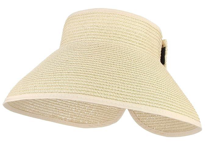 zur Freigabe auswählen bester Platz neueste GEMVIE Faltbarer Strohhut Damen Sommerhut mit Sonnen Shade ...