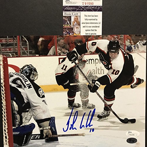 ohn LeClair Philadelphia Flyers 8x10 Hockey Photo JSA COA (Flyers Mini Hockey Helmet)